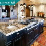 Large island Wooden Kitchen Cabinet european style kitchen cabinet with pantry