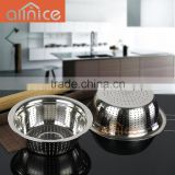 wholesale premium quality Fine Mesh Stainless Steel colander/fruit basket strainer for cleaning