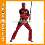 hot selling movie character deadpool cosplay costume PGMC0621