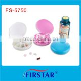 Hot selling 7 days round pill box timer with glossy appearance