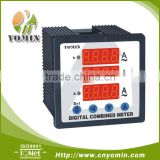Manufacturer Digital Panel Meter 96*96 ,DX-Z9613 Combination Reading For 3 Current Meter/ (3 Phase Purpose)