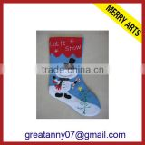 2015 new product new design plain bulk christmas stockings with good quality for wholeasale