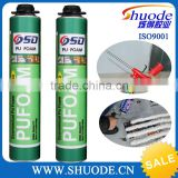 high density 750ml pu aerosol polyurethane spray foam adhesive de construction                                                                                                         Supplier's Choice