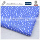 Jiufan Textile 100% Spun Polyester Fabric Good Quality White Dot Printed Georgette Fabric                                                                         Quality Choice