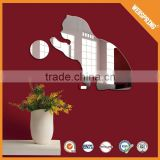 Hundreds of wholesale none-toxic alibaba china supplier cat shaped mirror wall stickers