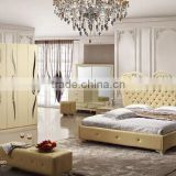 high-class exotic bedroom set bed night stands 6 door sliding wardrobe bench 5 drawers chest dresser with mirror included