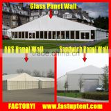 Guangzhou best wedding tent with glass door and hard solid abs wall panel sandwich panel wall