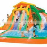 2014 New Design Inflatable Water Slide and Pool with Cannon-9117N Water Slide Park                                                                         Quality Choice