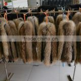Natural Raccoon Fur Trimming / Real Fur Hood Trim / Trim For Collar