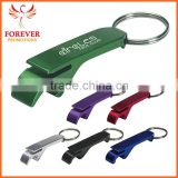 2015 New Design Aluminum Metal Flip-top Cans Bottle Opener Keychain Key Ring