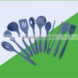 Silicone Cooking Utensil Set 10 Piece Set Includes: Spatula, Turner, Spoonula,Whisk, Brush,spoon,tongs,ladle cooking utensil