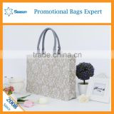 Wholesale shopping bag tote jute bag jute shopping in taobao