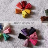Mix Color Suede Leather Tassel Keychain Cellphone Straps Jewelry Charms