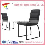 Fashion furniture modern metal leather wrought iron dining room chair