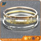 Fashion women's silver, rose gold,gold plated 316L stainless steel cuff bracelet bangle