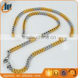 Fashion two tone gold plated cuban link chains