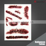 eco-friendly horror full face tattoo For bar Costume Party Dress Halloween tattoo sticker