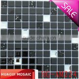 Black polished and mirror glass mosaic tile for wall and floor decoration