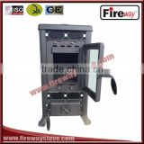 indoor heating function mattle black paint cast iron wood stove