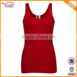Rib Fabric Bulk Women Wholesale Plain White Tank Top