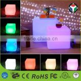 2016 hot sale plastic led cube light,LED chair light; Wonderful Chair LED light cube,magic change color light small seat cube