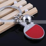 Wholesale Metal Alloy Kye Jewelry Table Tennis Key Ring For Young People