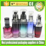 make-up High Quality assured cosmetic colored glass body lotion bottle
