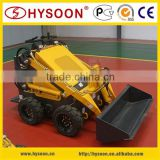 Mini skid steer loader used in cleaning poultry farm house construction