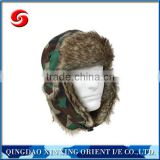 cold weather fur flyers hat with fur earflaps