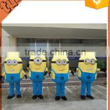 2015 hot sale Lovely adult mascot costumes/ Minions plush costume / child minion costume for party/event/exhibition/advertising