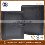 A4 leather portfolio folder&conference folder&compendium folder