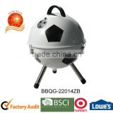 Charcoal Grills Grill Type and High Pressure Protection Device Safety Device football shaped bbq grill