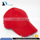 China Factory Daijun New Design OEM High Quality 100%cotton Red Embroidered logo Men Custom Baseball Cap With Metal Clasp
