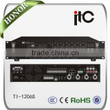 ITC TI-1206S 6 Zones Mixer Amplifier with bluetooth for restaurant paging system