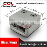 304/316 8-15mm square balustrade glass clamp glass clip