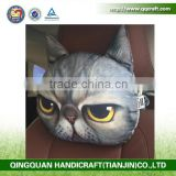 QQ Pet Factory Car Seat Head Neck Rest Pillow With Bamboo Carton Inside / Inflatable Car Cushion Pillow