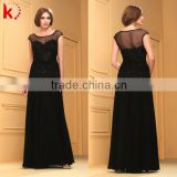 Elegant Graceful Design Cap Sleeve Shiny Embroidery Crystal Beads Sequin Sexy Backless Fashion Robes De Soiree 2015