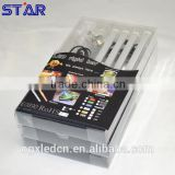 Blister packing 30cm Aluminum LED Bar RGB 5050 12V IP20 4.5W + 24keys RGB IR Remote controller + 12v adapter + Accessories