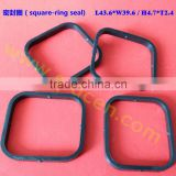 Rectangular ring FKM sealing sealsquare-ring seal rubber square gasket, OEM rubber square gasket