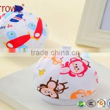 60S Combed Natural Cotton Baby Hat Beret Fashion Designs Flat-top Cap for New Born Infants