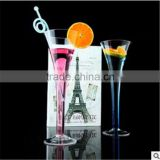 Lead-free crystal Vintage Classic Trumpet Flute glass trumpet cup,Champagne Toasting Flute Glasses.