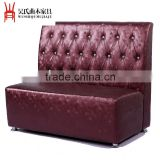 Grape red leather sofa table dining seat
