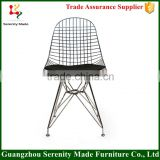 Popular metal wire mesh outdoor chair with cushion