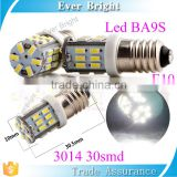 3014 30SMD 300LM auto tail led light global glaze new products car led lamps 12v BA9S e10 led bulb