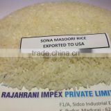 SONA MASURI RAW RICE EXPORTERS TO USA