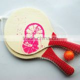 cheap promotion wooden beach tennis paddle set
