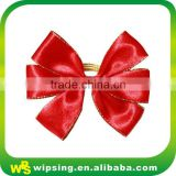 Custom pre tied satin ribbon gift wrap bow with elastic band
