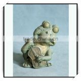 Bronze resin animal decoration music frog playing a guitar