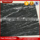 Polished and flamed Iron Snow White black Lactea Granite Tiles