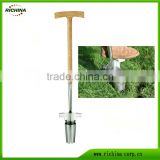 Long Wodd Hande Bulb Planter, FSC ash wood handle, mirror polished head